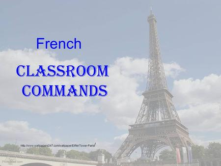 / Classroom Commands French.