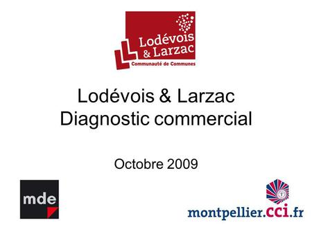 Lodévois & Larzac Diagnostic commercial Octobre 2009.