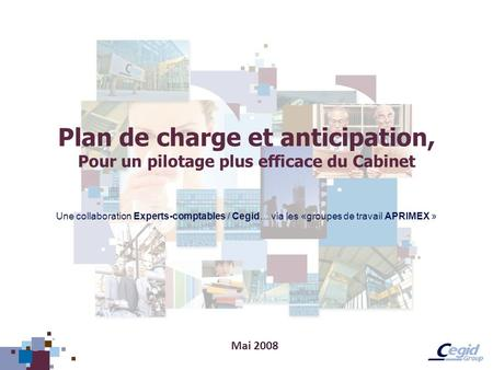 Plan de charge et anticipation,