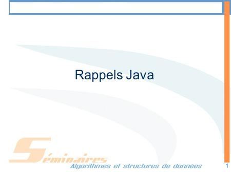 Les Collections en JAVA 1 Rappels Java. Les Collections en JAVA 2 Les collections Une collection est un objet qui regroupe de multiples éléments en une.