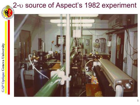 2- source of Aspect's 1982 experiment
