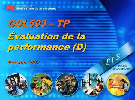 GOL503 – TP Évaluation de la performance (D) Version 2007.