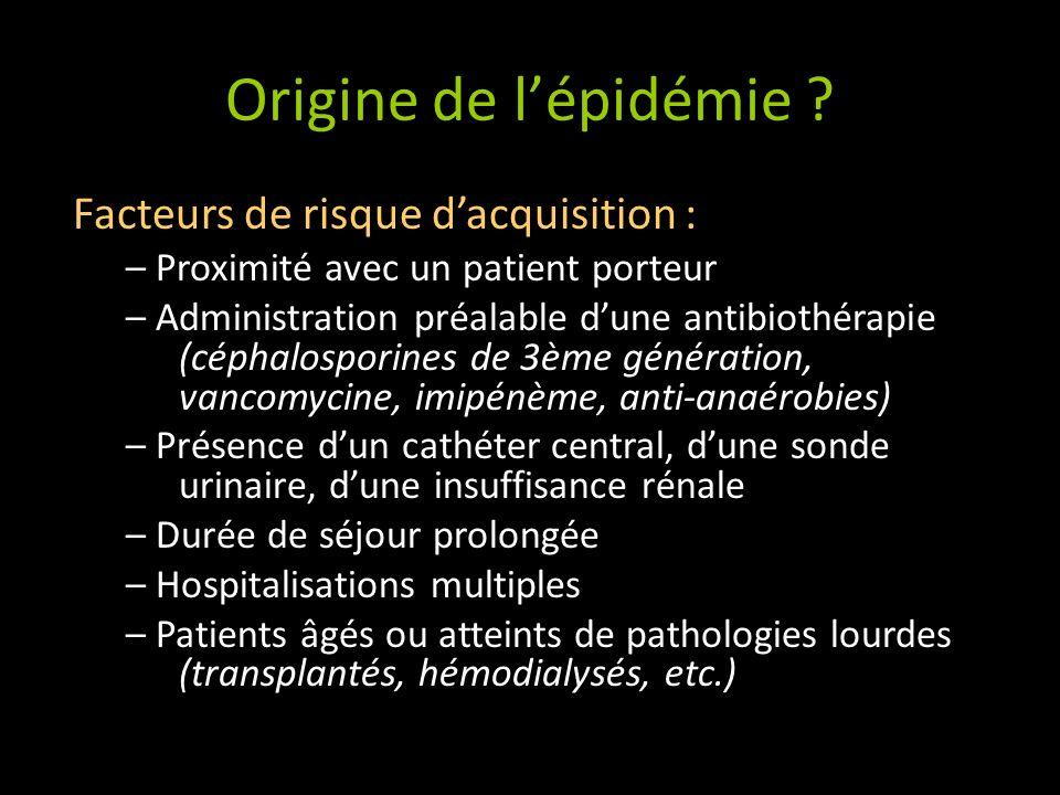 Origine de lépidémie .