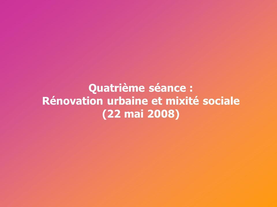 Cérur, groupe Reflex_ Rénovation urbaine et mixité La transformation urbaine, un levier de « mixité » érigée en principe de cohésion sociale.