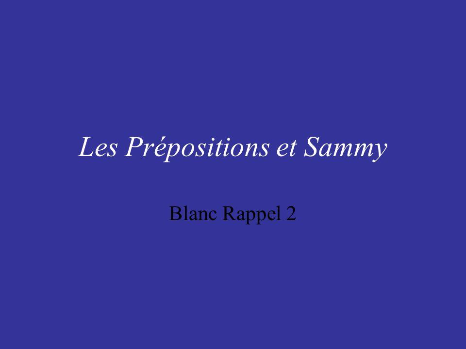 Les Prépositions et Sammy Blanc Rappel 2