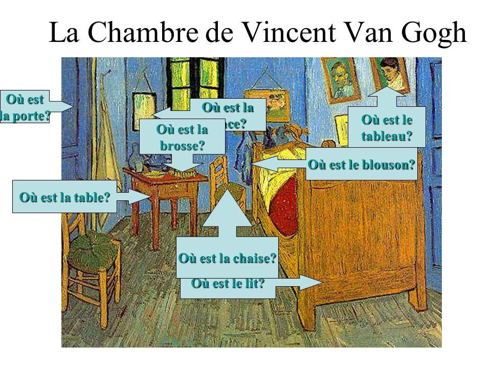 La Chambre de Vincent Van Gogh Où est le lit.Où est la table.