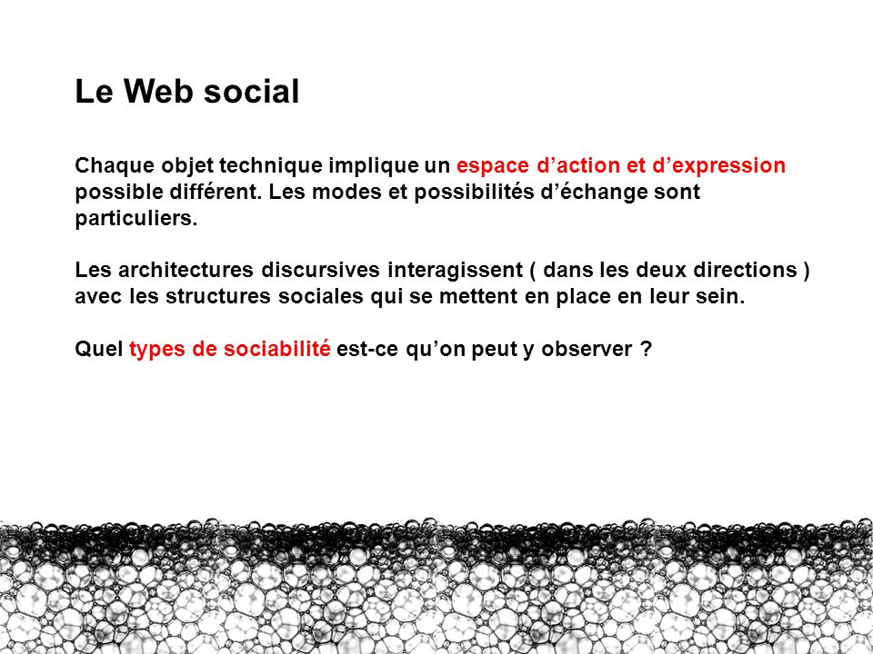II – Communauté La communauté Une définition « forte » implique que « configurations of space, organization and interaction sustain a common identity around shared goals and reciprocal relations among participants, and that such identity, goals, and reciprocity are an important and substantive aspect of each of participant s life, professional or personal » [ Latham / Sassen 2005 ] Certaines communautés virtuelles historiques affichaient effectivement ces qualités [ cf.