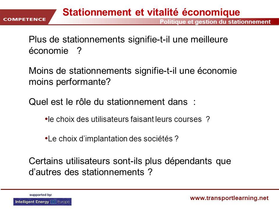 Politique et gestion du stationnement www.transportlearning.net Le concept PARC DE STATIONNEMENT INCITATIF 1 Pourquoi aménager des parcs de stationnement incitatifs P+R.