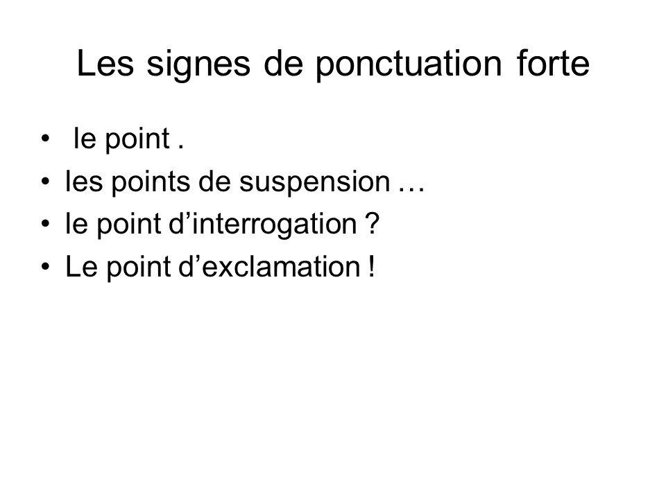 Les autres signes de ponctuation le point-virgule ; les deux points : la virgule, le tiret – les guillemets ….