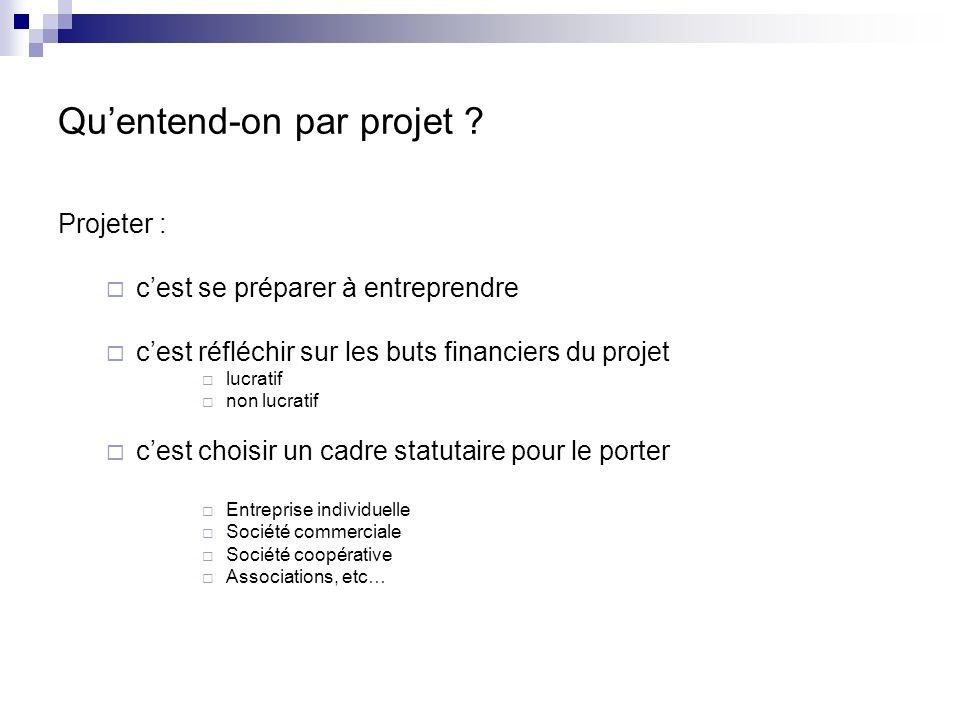 Sagissant du financement des projets 2 moments vont être confondus durant les exposés qui vont suivre : La création de projet Le développement de projet