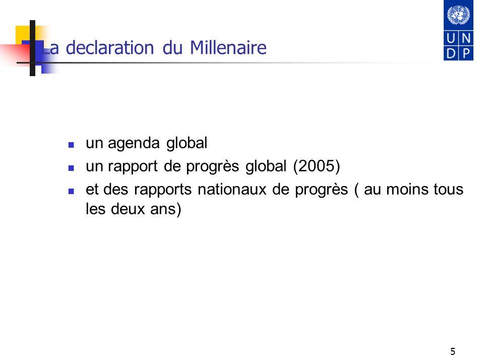 6 La déclaration du Millénaire et les ODM 8 objectifs principaux 18 cibles chiffrées à atteindre dans un délai de 25 ans.