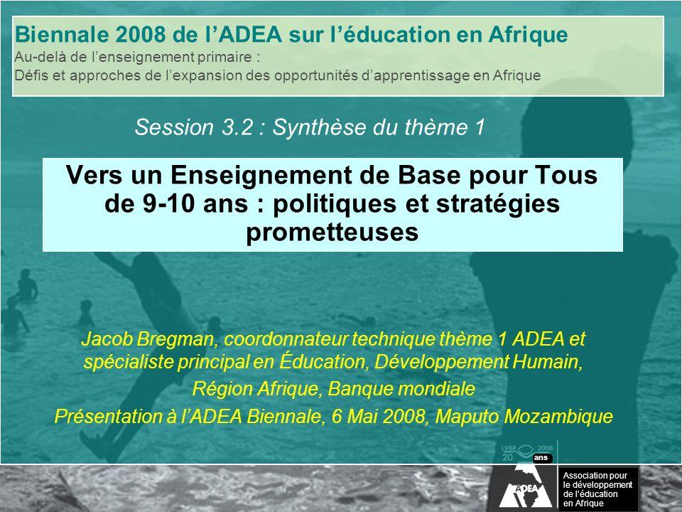 Biennale 2008 de lADEA sur léducation en Afrique Association pour le développement de léducation en Afrique ans LEns.
