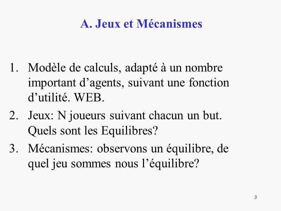4 1.Dilemme des Prisonniers Deux décisions C (collaborer), T (Trahir) 2.Version répétée.
