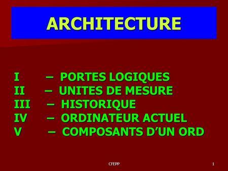 Configurer des syst mes d 39 exploitation 243 j28 sl cours for Architecture d un ordinateur