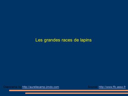 Les grandes races de lapins Source:  by
