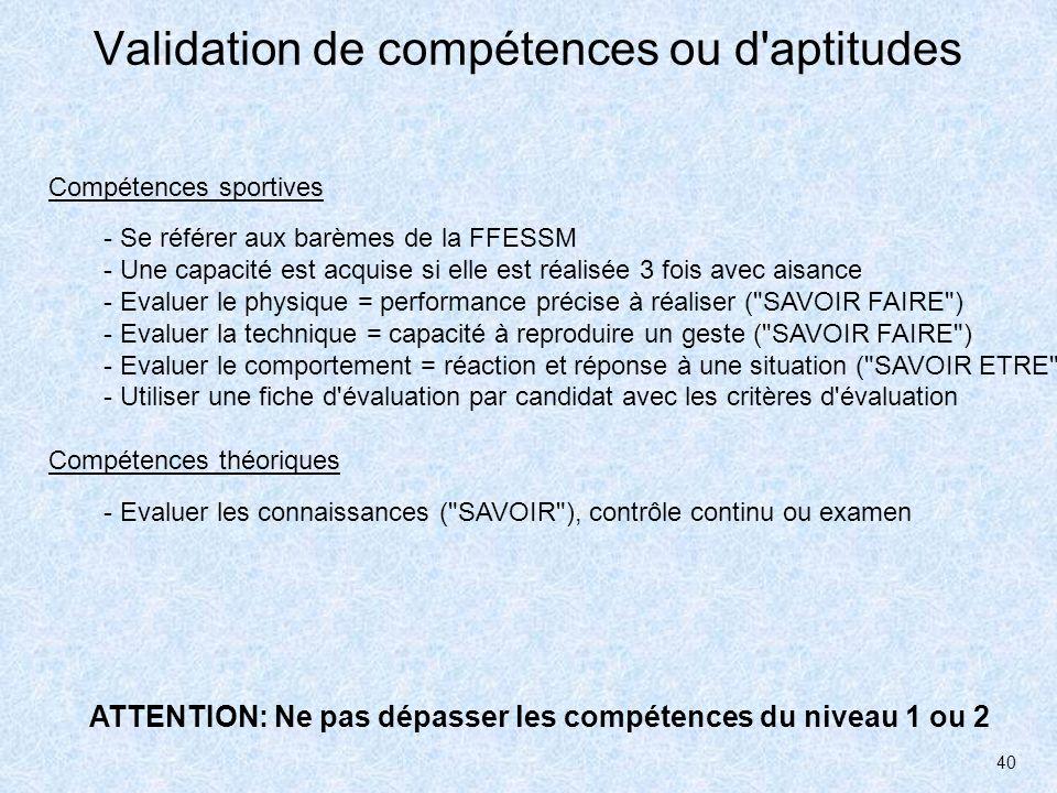 41 EXERCICE: évaluation Critères d évaluation d un sauvetage en piscine .
