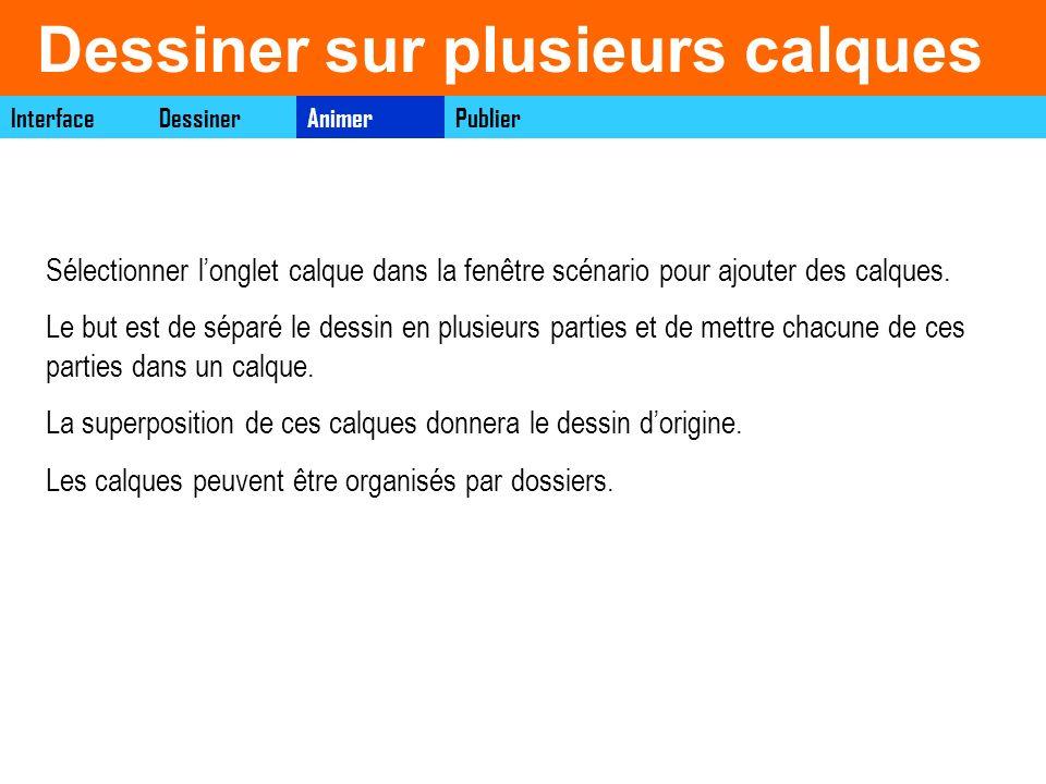 Les images InterfaceAnimerDessinerPublier Cest une image singulières sur lesquelles le travail s effectue.