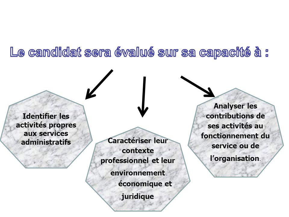 - 3 - Analyser les contributions de ces activités au fonctionnement du service ou de lorganisation.