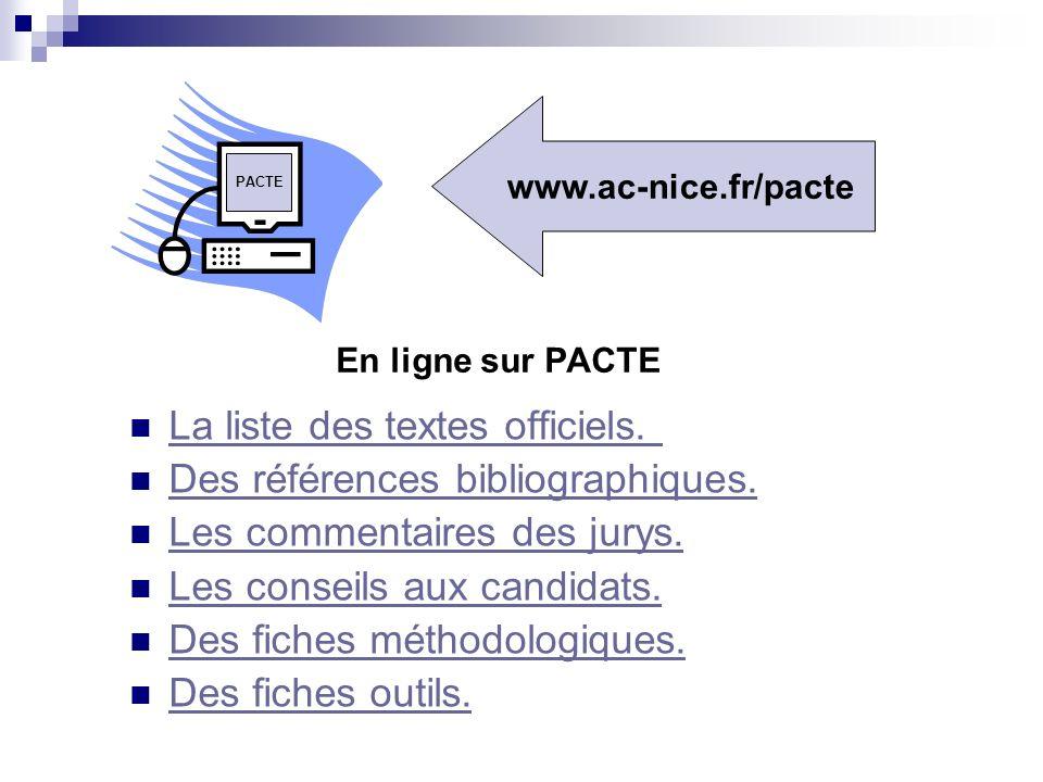 http://www.education.gouv.fr/siac/siac2/default.htm http://tice.education.fr/educnet4/Public/ecogest/ Autres sites pour information sur le concours