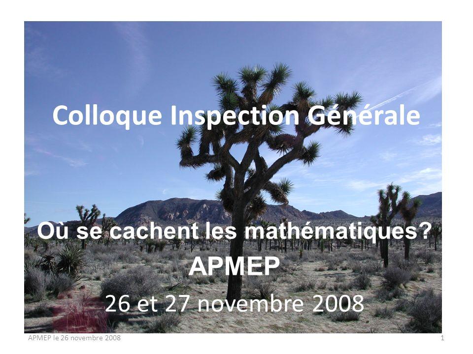 La nouvelle classe de seconde Ce que nous savons Nos interrogations Nos propositions APMEP le 26 novembre 20082