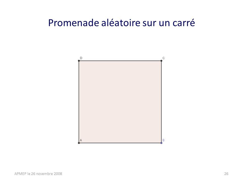 ABCD est un carré, je veux aller de A en C.