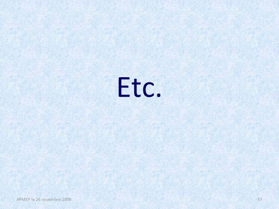Conclusion Dans le cadre de la nouvelle classe de seconde, – Les TP nous semblent une réponse adaptée à lenseignement optionnel, – Pour les mettre en place, il faudra établir une liste de thèmes dactivités, en variant les types de problèmes, les méthodes, les cadres de résolution, – Proposer des ressources abondantes tout en laissant libre cours à la créativité des professeurs.