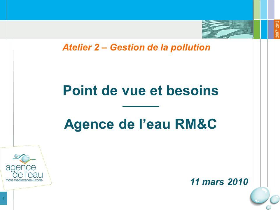 2 1 – Stratégie daction -Principes généraux -Limiter les pollutions -Concentrer les polluants 2 – Besoins de connaissance -Définir des méthodes de gestion -Reconquête du bon état -Guide à la décision Plan de la présentation