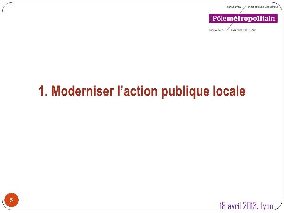 1.Modernisation de laction publique locale 6 1.