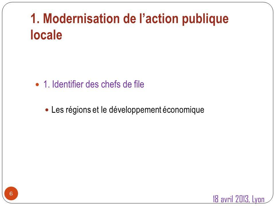 1.Modernisation de laction publique locale 7 1.