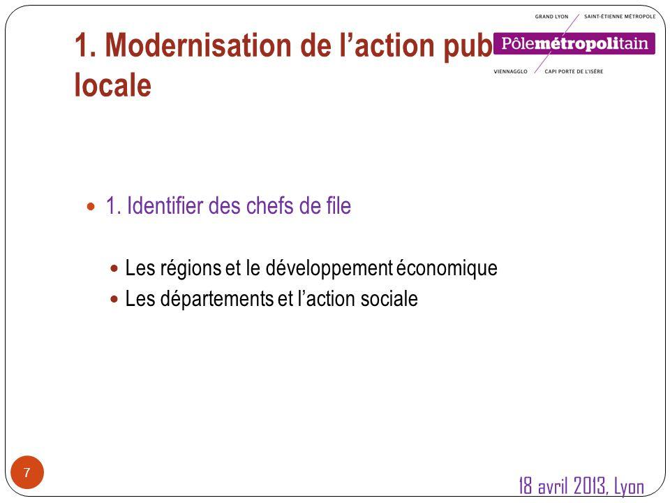 1.Modernisation de laction publique locale 8 1.
