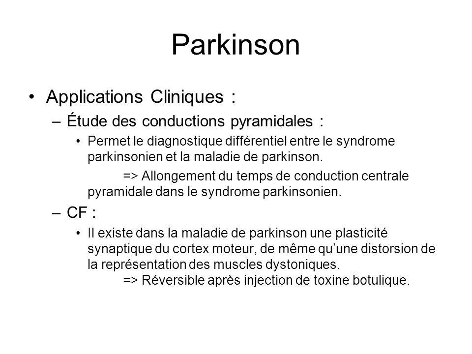 Parkinson –Étude de lexcitabilité corticale : Intérêt dans lévaluation des mécanismes physiopathologiques.