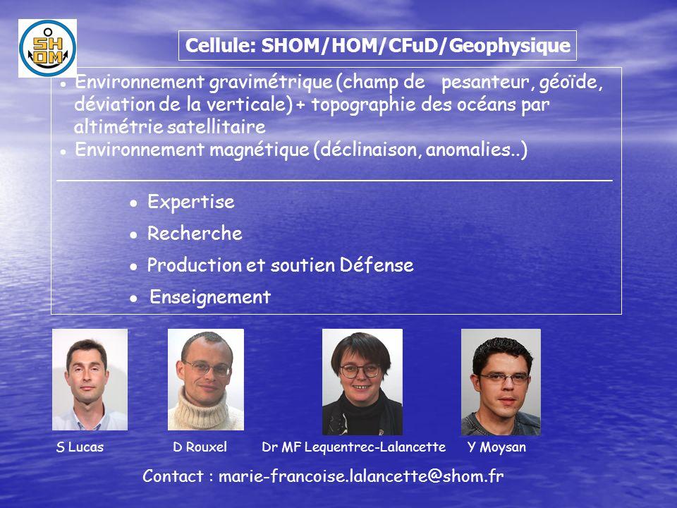 Satellites gravimétriques modèles Basse Résolution Satellites altimétriques modèles Moyenne Résolution Mesures marines ou sous-marines modèles Haute Résolution Comment mesurer la pesanteur sur les océans.