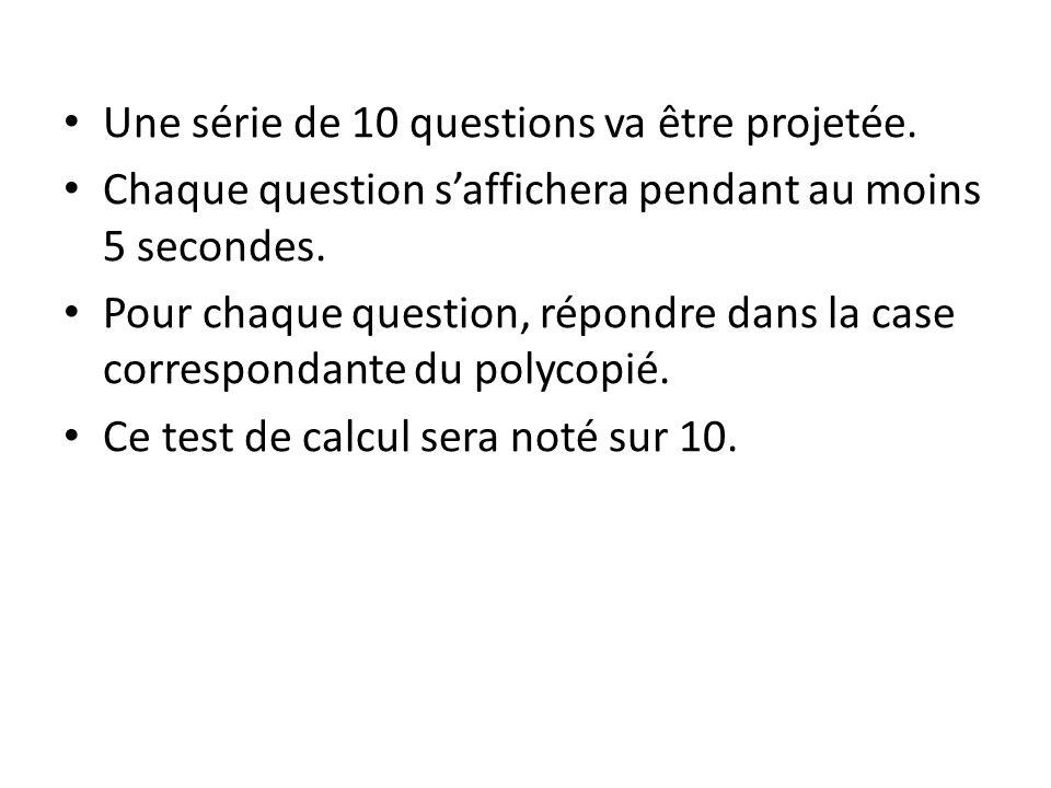 Question N°1 :