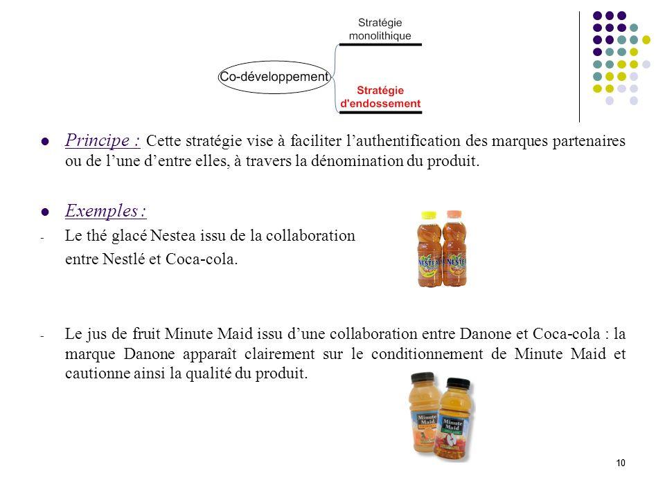 11 La co-communication (ou joint promotion) nimplique aucune collaboration au niveau de la conception des produits.