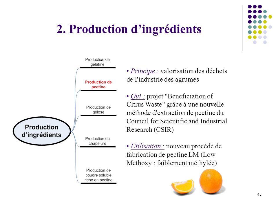 44 Principe : production d hydrolysats protéiques, de milieux de culture et d enzymes à partir des viscères de poisson Qui : Lentreprise BioMérieux 2.