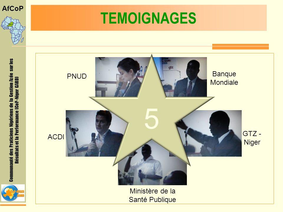 Communauté des Praticiens Nigériens de la Gestion Axée sur les Résultats et la Performance (CoP-Niger GARD) AfCoP EXPOSES ADDITIONNELS Deux exposés de la COP Niger Processus chaîne de résultats de la SDRP Vision, objectif organisation de lAfCOP et de la COP-Niger