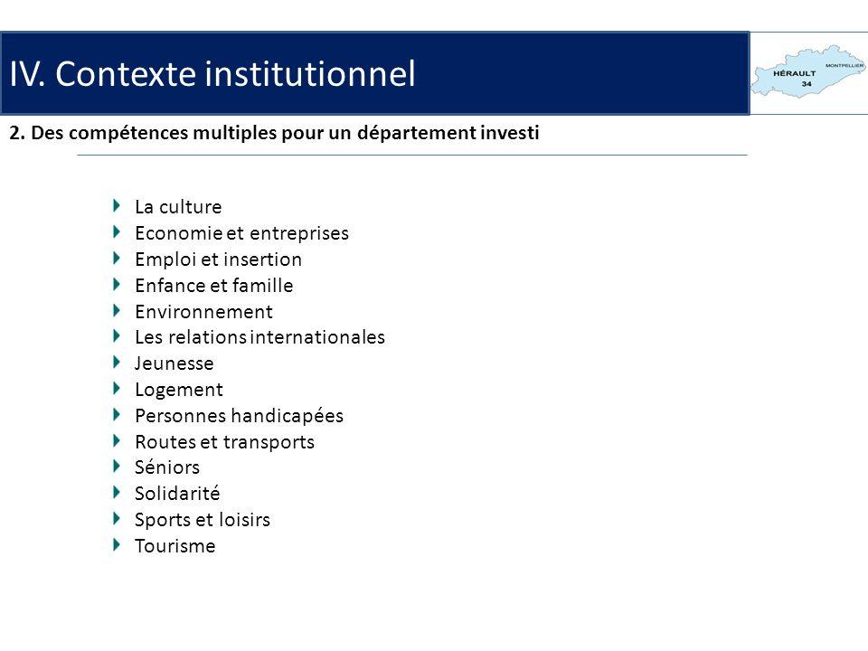 IV.Contexte institutionnel 3.