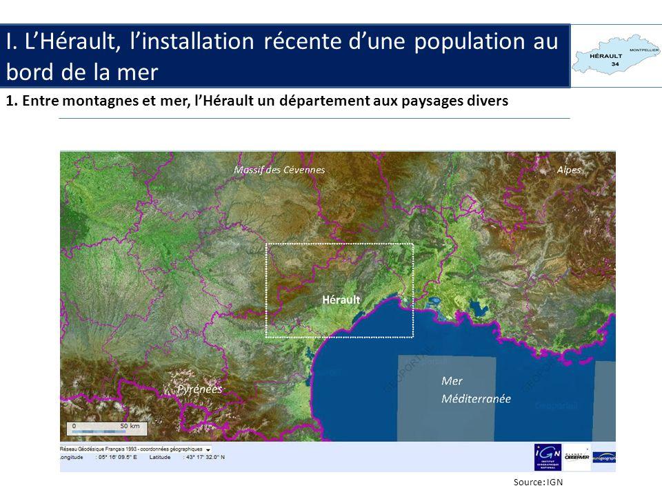 I.LHérault, installation récente dune population au bord de la mer.