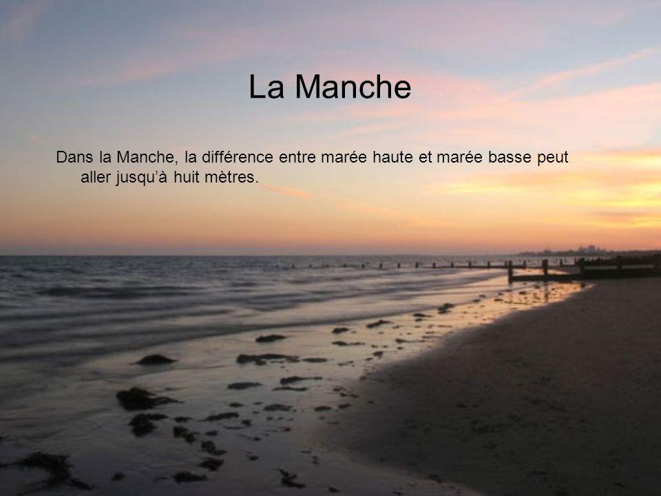 La Manche Dans la Manche, la différence entre marée haute et marée basse peut aller jusquà huit mètres.