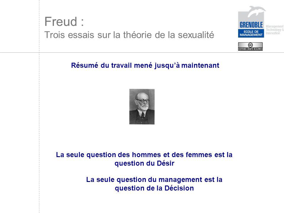 Hommes et femmes sont complexes au sens même de leur complexion Freud : Trois essais sur la théorie de la sexualité