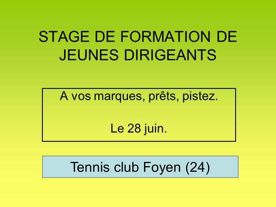 Présentation de la structure porteuse du projet Tennis club foyen 200 6 terrains Un B.E 100 jeunes La bonne ambiance