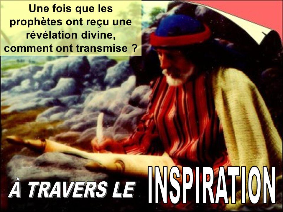 Dans tous les cas, c est l Esprit Saint celui qui a inspiré aux prophètes pour qu ils puissent transmettre les messages que Dieu leur a révélés de la manière qui Il crée davantage de nécessaire.