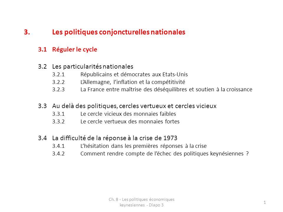 3.Les politiques conjoncturelles nationales 3.1 Réguler le cycle 2 Ch.