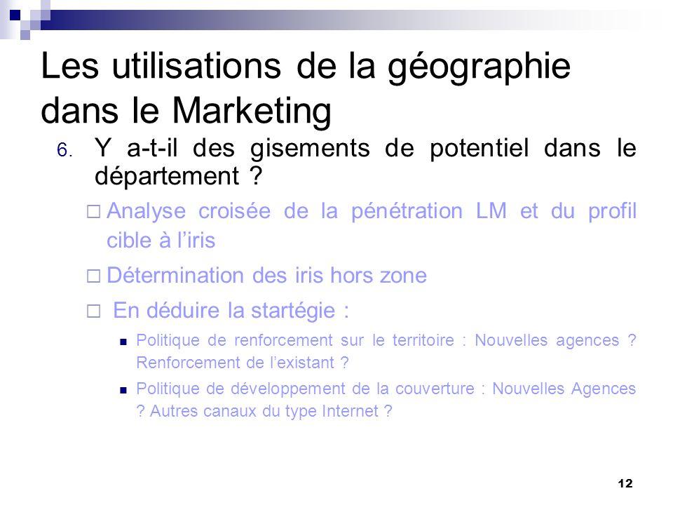 Les utilisations de la géographie dans le Marketing 7.