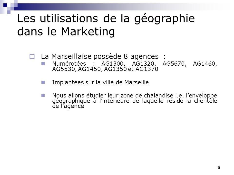 Les utilisations de la géographie dans le Marketing 1.