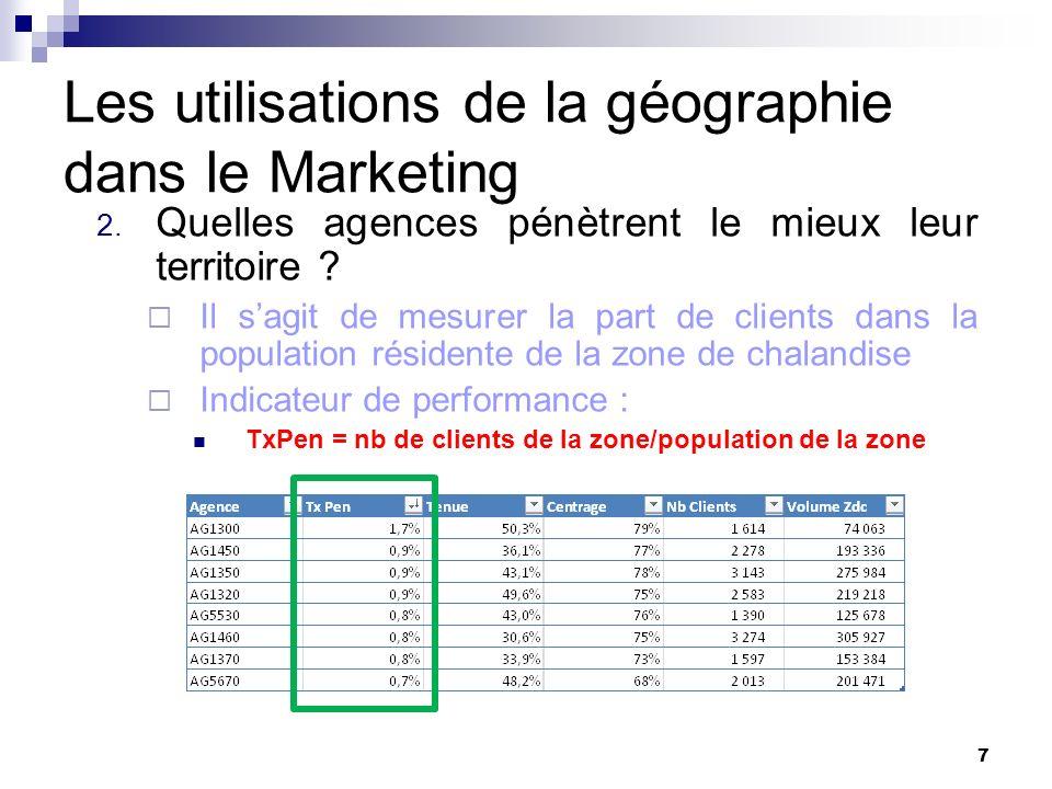 Les utilisations de la géographie dans le Marketing 3.