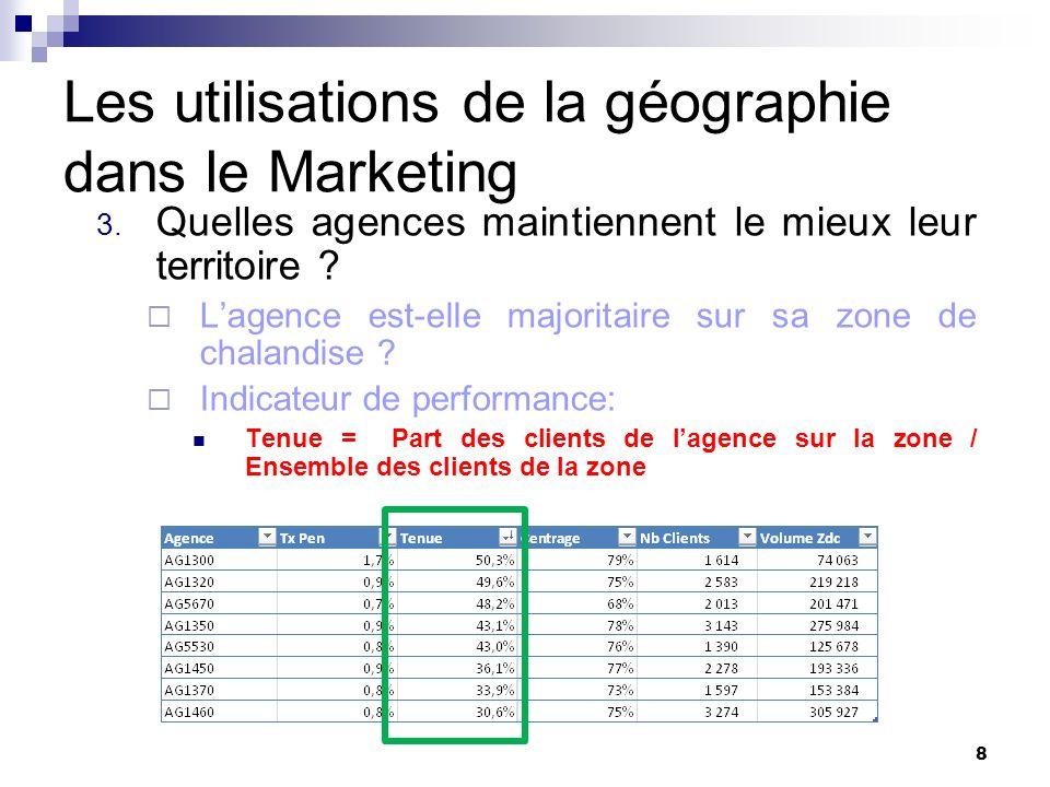 Les utilisations de la géographie dans le Marketing 4.