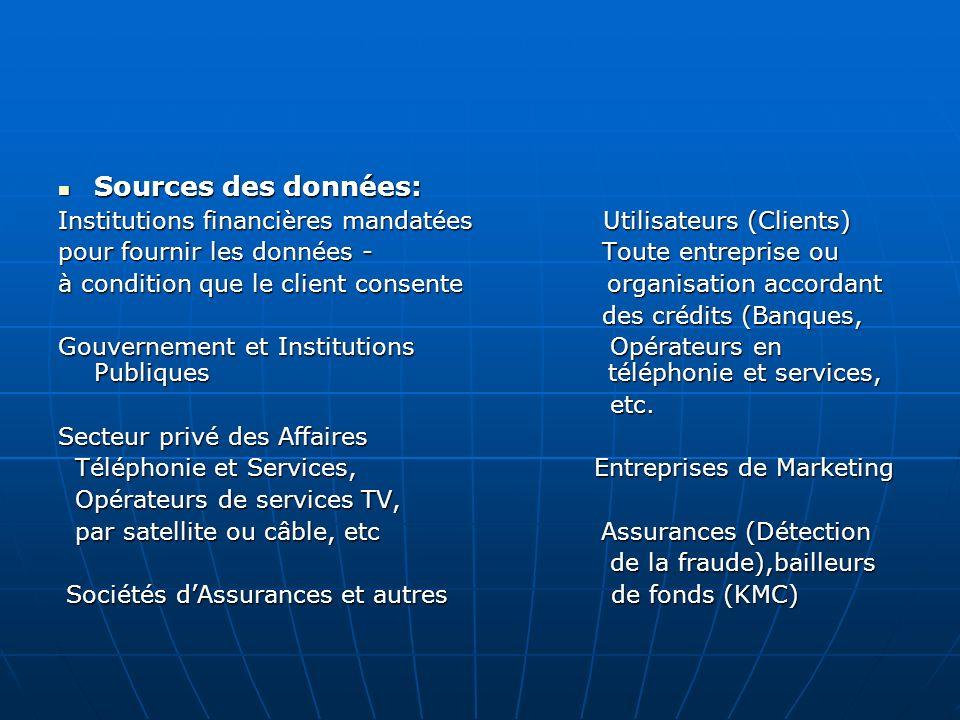 Produits offerts par le First Credit Bureau 1.Renseignements sur la solvabilité des clients 2.