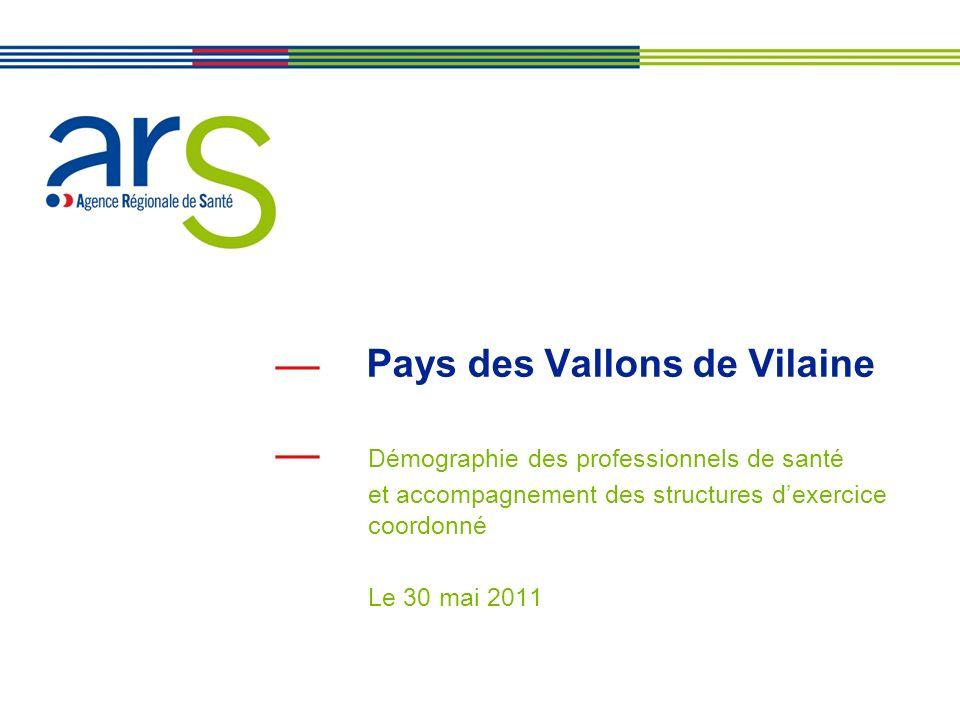 2 Plan de lintervention Présentation de loffre de soins en Bretagne et sur le Pays des Vallons de Vilaine Les maisons de santé pluridisciplinaires