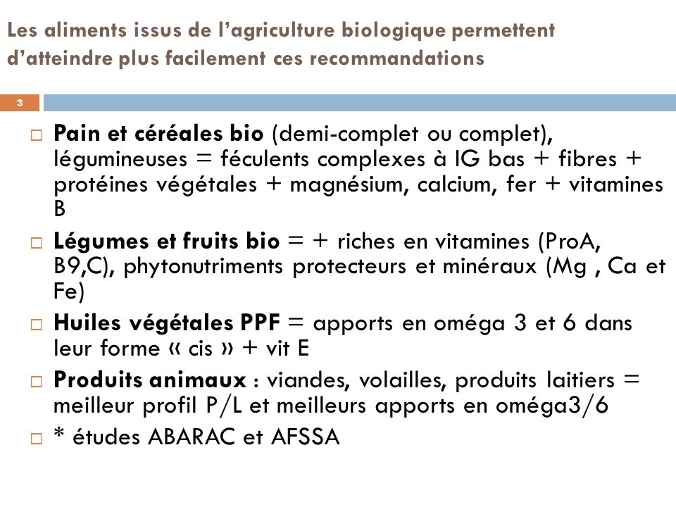 Limiter les coûts des plats protidiques bio En diminuant les quantités de viandes, volailles, poisson Avec des plats « mixtes » à base de céréales complètes ou légumineuses associées à 50 % seulement du grammage conseillé en viande, volaille ou poisson Introduire plus souvent (2 repas/ 20) les œufs bio qui présentent un faible surcoût En proposant des repas à tendance végétarienne une fois / sem 4